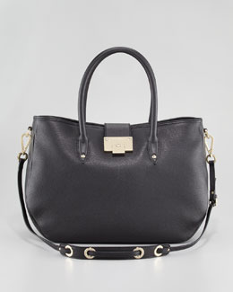 Jimmy Choo Rania Grainy Leather Tote Bag