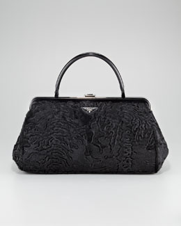 Prada Breit Fur Doctor's Bag