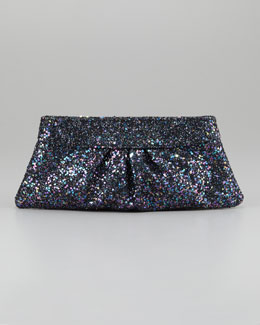Lauren Merkin Eve Snap-Frame Glitter Clutch Bag, Twilight