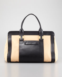 Chloe Alice Large Satchel Bag, Stem Ginger