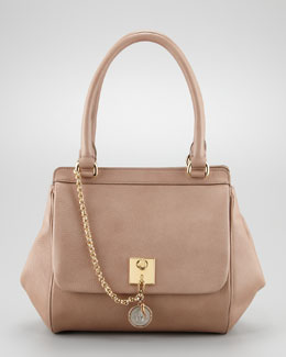 Dolce & Gabbana Miss Bianca Leather Chain Handbag, Powder