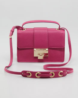 Jimmy Choo Rebel Leather Crossbody Bag, Purple