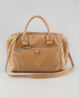 Marc Jacobs Antonia Small Leather Satchel Bag, Beige