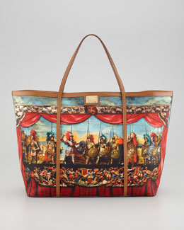 Dolce & Gabbana Miss Escape Printed Canvas Tote Bag
