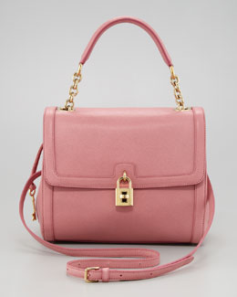 Dolce & Gabbana Miss Dolce Leather Satchel Bag, Pink