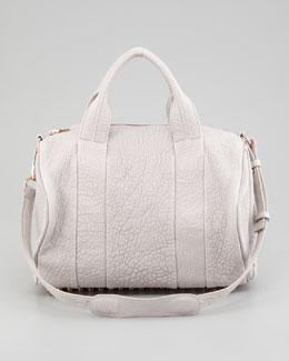 Alexander Wang Rocco Stud-Bottom Satchel Bag, Lilac/Rose Golden