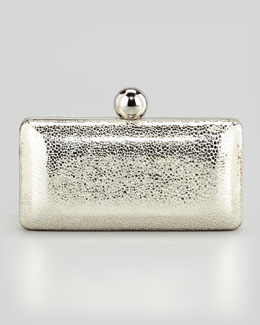 Milly Iris Metallic Minaudiere, Gold