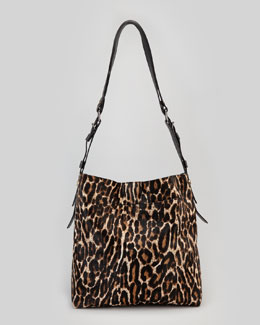 Lanvin Leopard-Print Calf Hair Shopping Bag