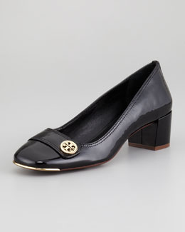 Tory Burch Marion Patent Leather Pump, Black