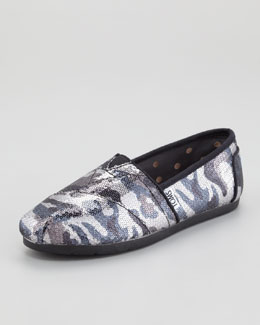 TOMS Sequined Camo Slip-On