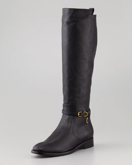 Balenciaga Papier Flat Belted Riding Boot