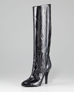 Maison Martin Margiela Nail Polish Effect Knee Boot