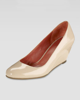 Cole Haan Air Lainey Patent Wedge Pump, Nougat