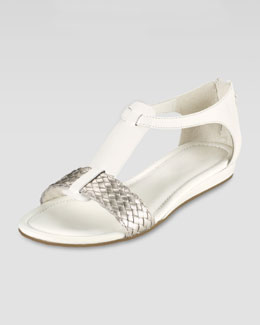 Cole Haan Jaycee Low-Wedge Sandal, Ivory