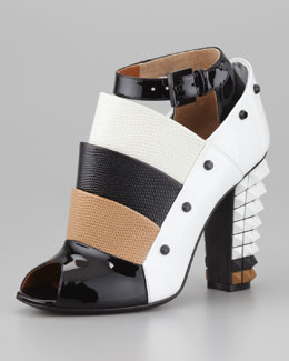Fendi Layered Pyramid Stud-Heel Pump
