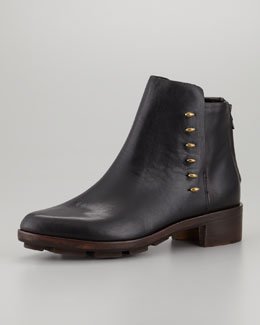 Rag & Bone Dover Leather Ankle Boot, Black