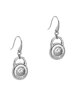 Michael Kors  Lock Earrings, Silver