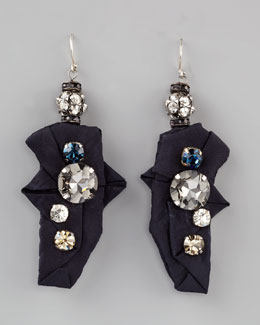 Donna Karan Origami Crystal Earrings