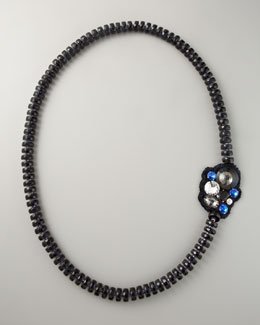 "Donna Karan Faceted Bead Necklace, 60""L"