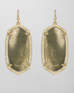 Kendra Scott Elle Earrings, Pyrite