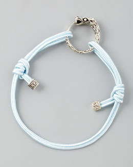 John Hardy Naga Cord Bracelet, Light Blue