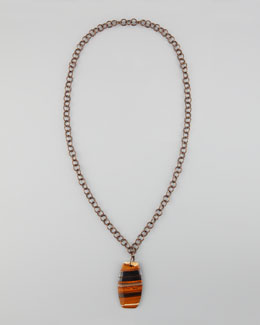 Nest Tiger's Eye Pendant Necklace