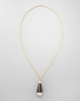 Rachel Zoe Pave Teardrop Pendant Necklace