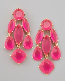kate spade new york crystal statement earrings, pink