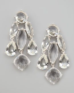 kate spade new york crystal statement earrings, clear