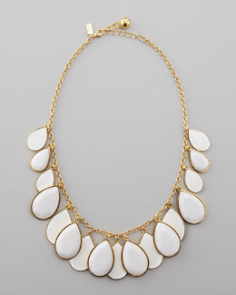 kate spade new york teardrop necklace, white