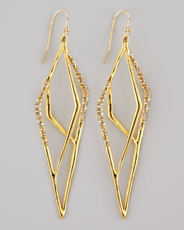 Alexis Bittar Gold-Plated Pave Kite Earrings