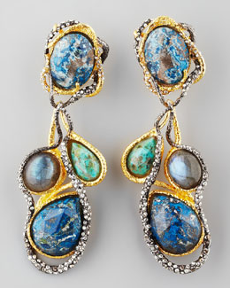 Alexis Bittar Cordova Vine Clip Earrings