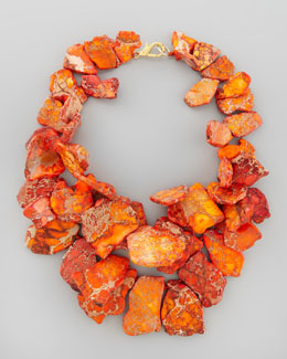 Nest Chunky Orange Jasper Necklace