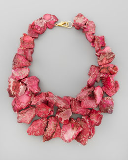 Nest Chunky Pink Jasper Necklace