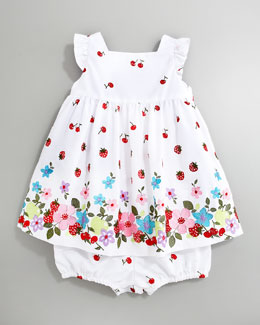 Florence Eiseman Mixed-Print Dress, Sizes 3-9 Months