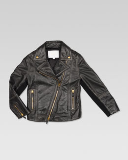 Gucci Vintage Treated Leather Biker Jacket