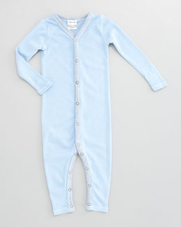 Splendid Littles Striped-Trim Snug-Fit Playsuit, Sky
