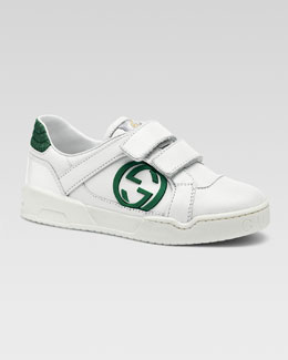Gucci Rebound Double-Strap Sneaker, Youth