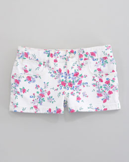 Ralph Lauren Floral-Print Denim Short, Royalston Wash