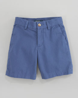 Ralph Lauren Childrenswear Preppy Saltwater Washed Twill Shorts, Royal
