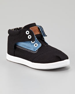 TOMS Colorblock Botas Shoe, Blue/Black, Tiny