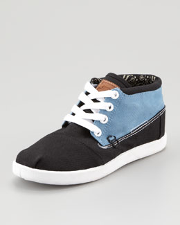 TOMS Colorblock Botas Shoe, Blue/Black, Youth