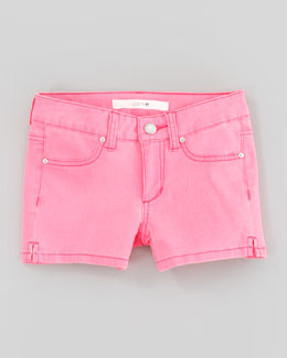 Joe's Jeans Neon Pink Stretch Denim Shorts, Sizes 8-10