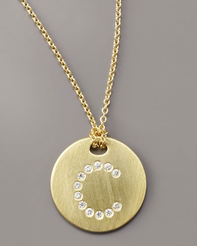 Roberto Coin Letter Medallion Necklace, C