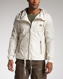 Diesel Jaylinter Leather-Trim Jacket
