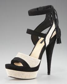 Rachel Zoe Back-Tassel Platform Sandal