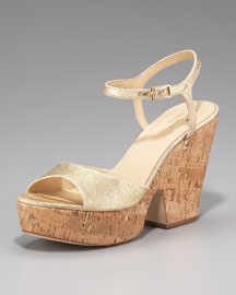 kate spade new york cork platform sandal