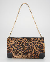 Christian Louboutin Loubiposh Calf Hair Clutch