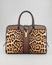 Yves Saint Laurent Leopard-Print ChYc E/W Bag