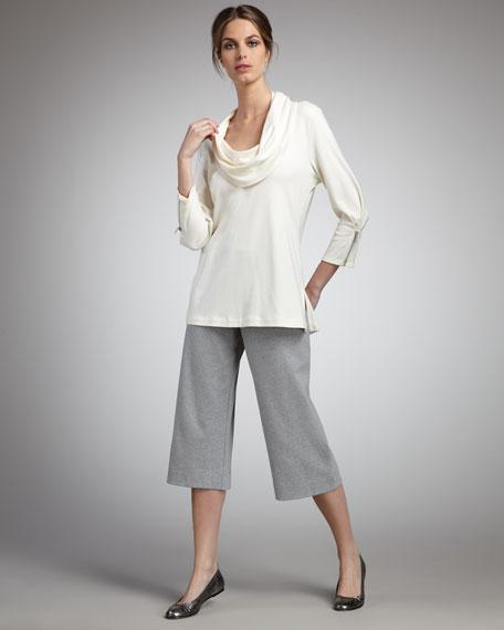 Zip-Sleeve Cowl-Neck Tunic, Women's